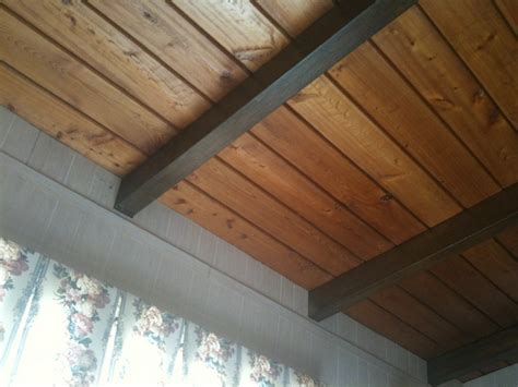 tongue and groove plywood ceiling studio design