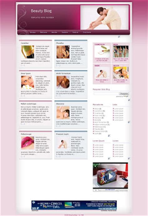 free templates for blogger beauty templates novo blogger template beauty blog