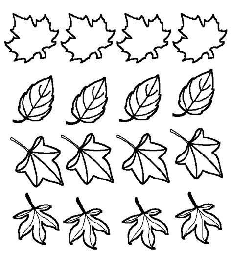 hojas de otono coloring pages hojas de oto 241 o para colorear