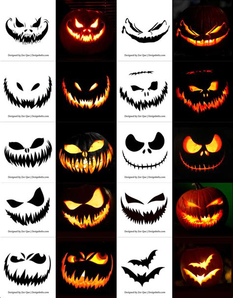 30 Free Halloween Vectors Psd Icons Party Posters For 2014 Pumpkin Carving Ideas Templates Free