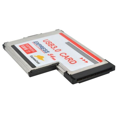 Express Card 54mm Usb 3 0 2 ports usb 3 0 5gbps pci 54mm slot express card for