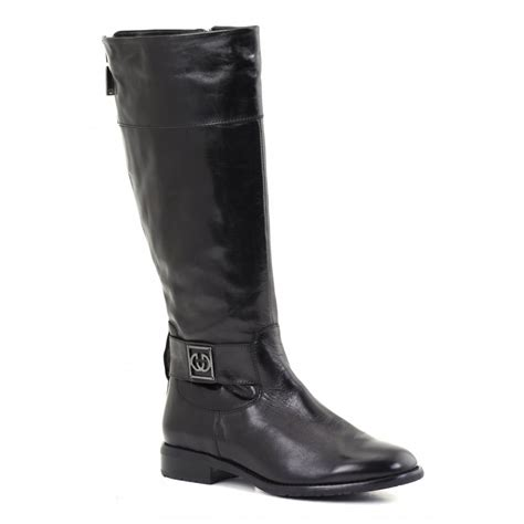 demy 02 black leather boot