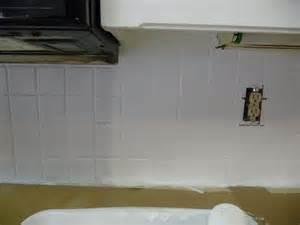 Paint Kitchen Backsplash by Painting Over A Tile Backsplash Hilldalehouse
