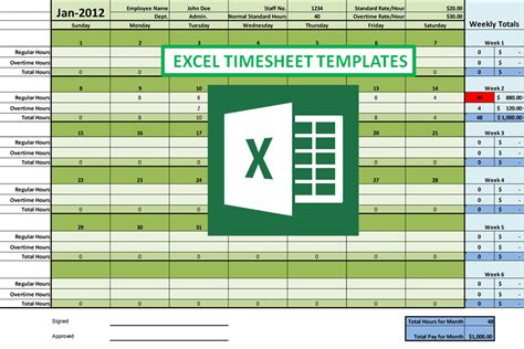 Programservices Blog Free Excel Timesheet Template With Formulas