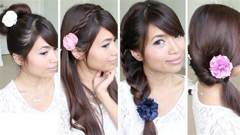 and easy hairstyles for hair for school easy back to school hairstyles for medium