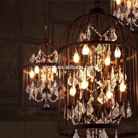 kronleuchter retro vintage industrial pendant light bird cage with