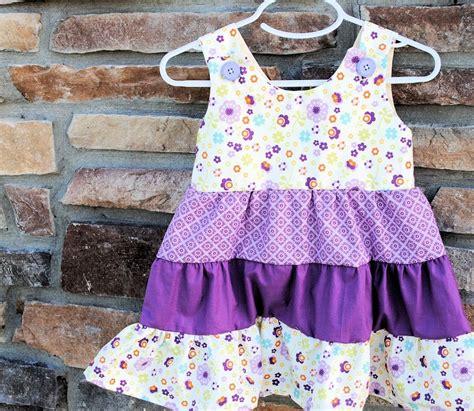 pattern free girl dress tiered ruffle girls dress tutorial and pattern