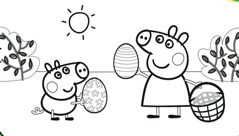 easter coloring pages nick jr 30 printable peppa pig coloring pages you won t find anywhere