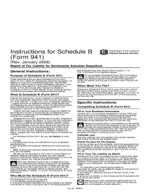 printable schedule b form 941 941 tax form schedule b fillable 2012 fill online