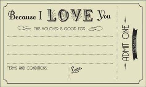 printable e vouchers free printable love vouchers voucher pinterest
