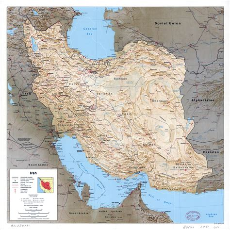 map of iran with cities large scale political map of iran with relief all roads