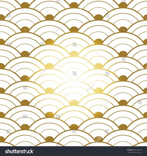 chinese gold pattern vector red gold seamless chinese pattern stock vector 361362176