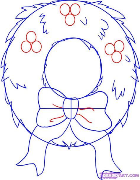 christmas pictures step by step how to draw a simple wreath step by step stuff seasonal free