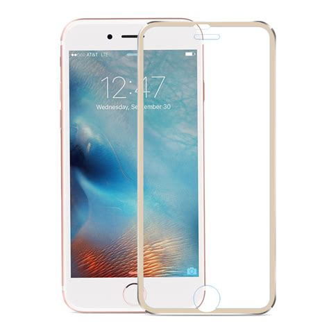 Iphone 6 6s Gold Titanium Alloy Premium Tempered Glass hd curved coverage tempered glass screen protector with