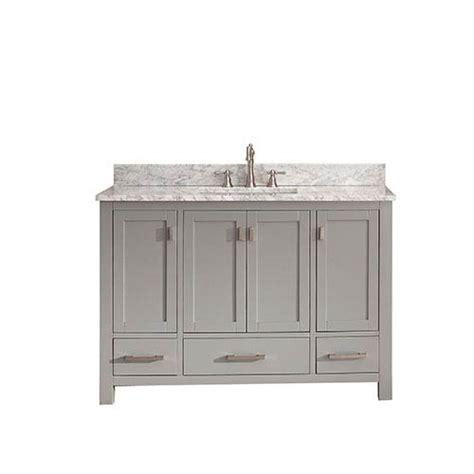 48 Inch Vanity Top modero chilled gray 48 inch vanity combo with white marble top avanity vanities ba