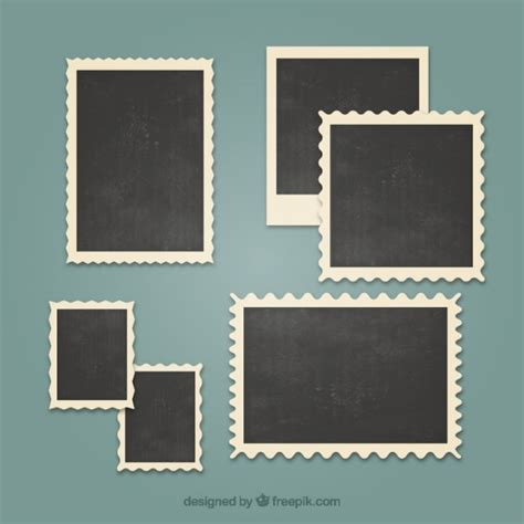 photo frame vintage photo frames set vector free