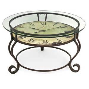 Clock Coffee Table Buy Low Price 17 Scrolling Wrought Iron Glass Top Coffee Table With Vintage Style Clock