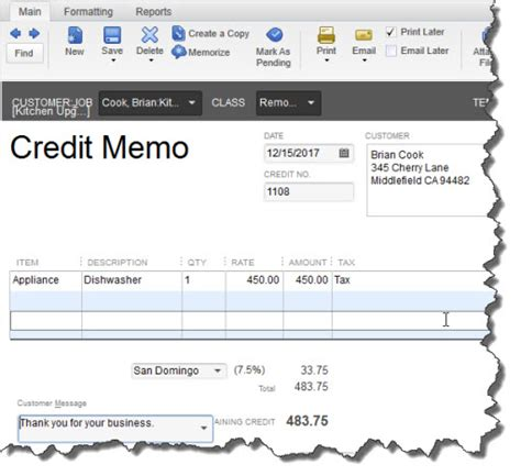 Credit Note Template Quickbooks Learn How To Issue Refunds In Quickbooks
