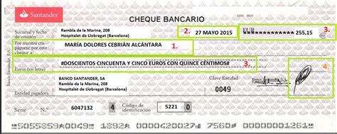 www banco popular c 243 mo rellenar un cheque asesoramiento org