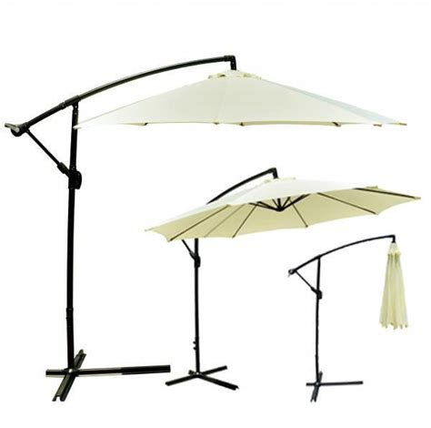10 Offset Patio Umbrella Beige Patio Umbrella Offset 10 Hanging Umbrella Outdoor Market Umbrella D10 Ebay