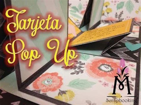 tutorial tarjeta pop up scrapbook tutorial tarjeta pop up pop up card scrapbook diy youtube