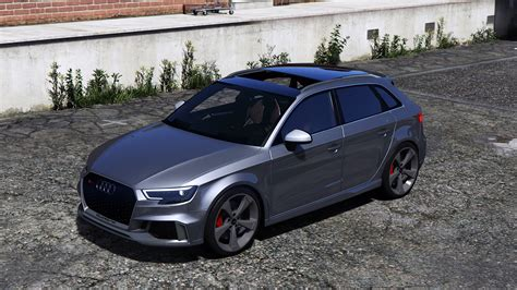 Audi Rs3 Mods by Release Vehicle Audi Rs3 2018 Sportback Gta5 Mods