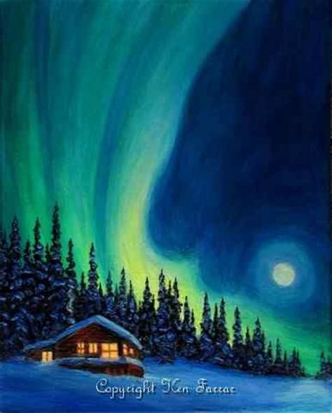 bob ross paintings northern lights 17 best images about northern lights mural on