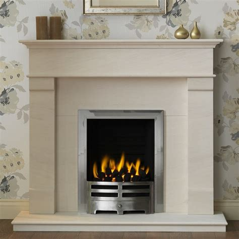 Portuguese Limestone Fireplace by Gallery Derwent Portuguese Limestone Fireplace