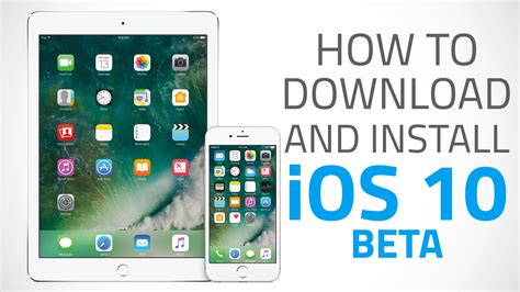 how to install ios 10 public beta on your iphone or ipad how to download and install ios 10 beta on iphone ipad