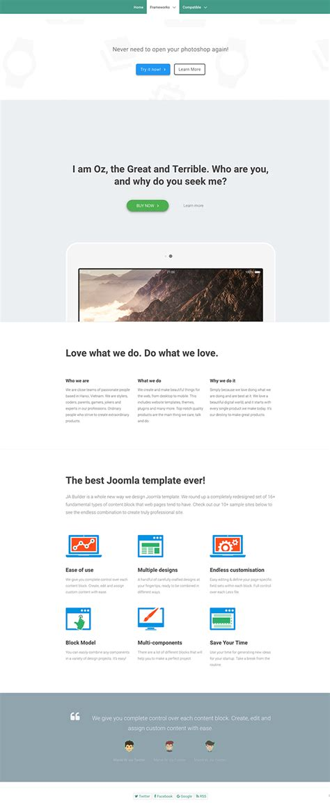 themes compatible with page builder tips to make ja page builder work with all joomla template