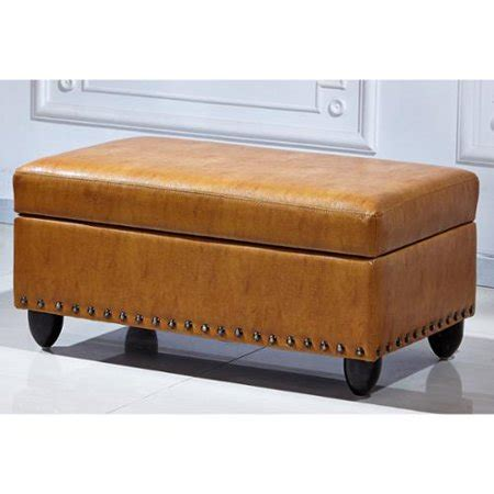 light leather ottoman royal comfort adamn faux leather luxury ottoman light
