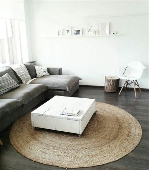 sisal teppich schwarz weiß wohnzimmer design teppich