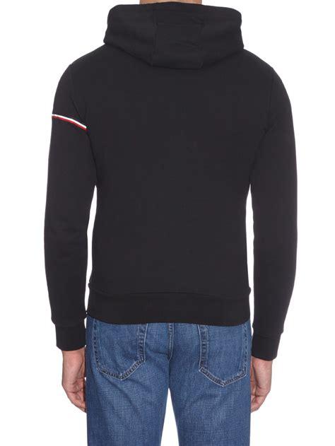 Hoodie Sweater Shrapnel Black Front Logo moncler logo stripe cotton hooded sweatshirt in black for lyst