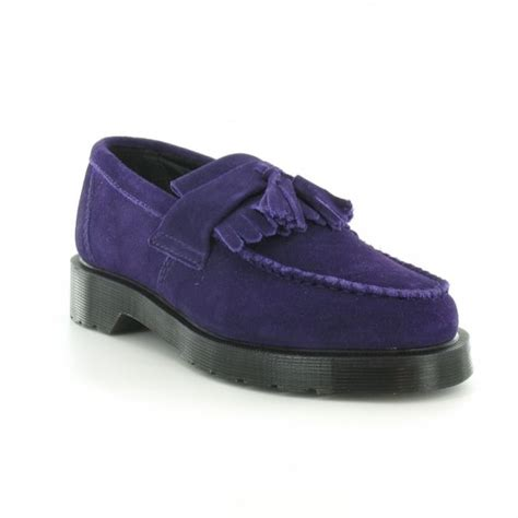 Sandal Loafers Kasual Flat Shoes Original Jk Collection Jln Putih dr martens adrian unisex suede leather tassel loafers potent purple casual shoes from