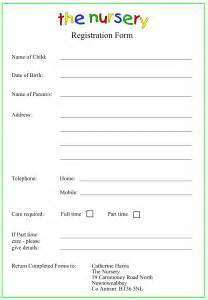 nursery sign in sheet template nursery registration form