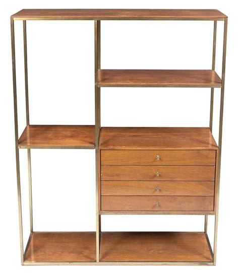 Room Divider Shelf Unit by Paul Mccobb Brass And Mahogany Shelving Unit Room Divider