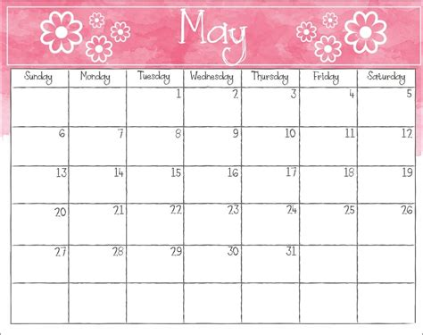 Personalized Calendars May 2018 Personalized Calendar Max Calendars