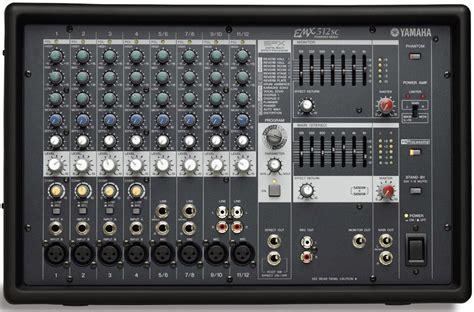 Power Mixer Lifier Yamaha yamaha emx512sc 8 input powered mixer with dual 500 watt