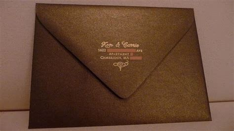 wedding invitation return address back flap the octopi invites part 2