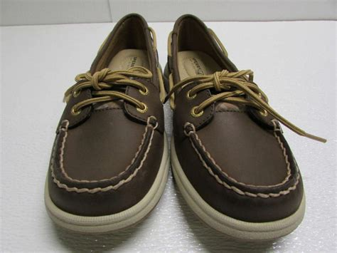 boat shoes international shipping sperry top sider womens sz 8m us laguna brown cognac plaid