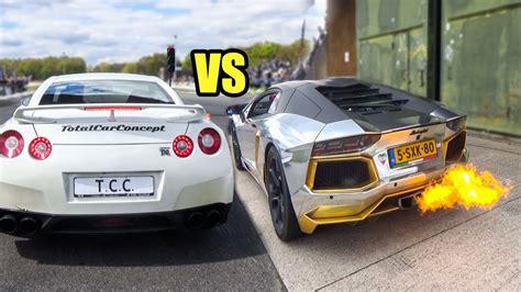 Lamborghini Aventador Vs Nissan Gtr Nissan Gtr Vs Lamborghini Aventador Prontheroad