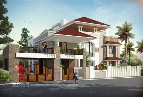 bungalow architecture 3d bungalow design 3d modern bungalow rendering