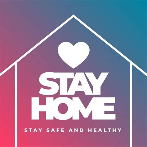 stay home stay safe  healthy concept poster