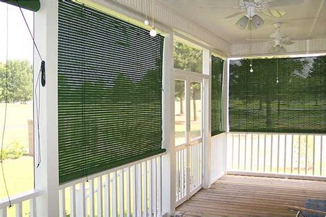basswood roll  woven wood shades  porch