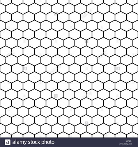 hexagonal pattern grid hexagon grid cells vector seamless pattern stock vector