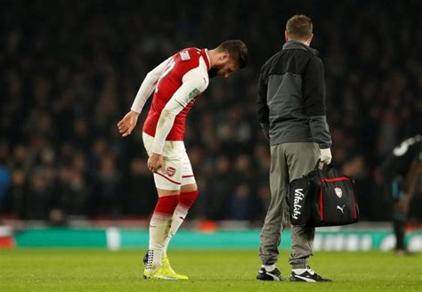 arsenal qatar arsenal s giroud to miss liverpool clash with hamstring