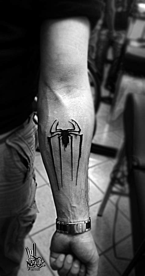leeds uni tattoo amazing spider man logo tattoo