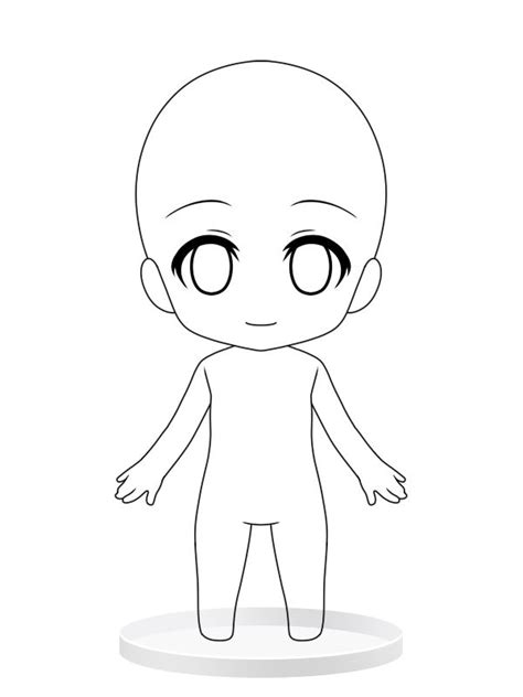 chibi girl base drawing pinterest chibi girls and