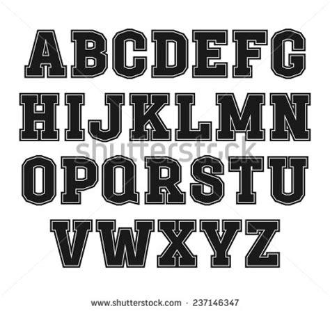 college font design college rugby team emblems retro vintage stock vector