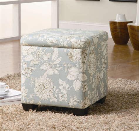 fabric for ottoman flower pattern fabric modern storage ottoman w wood legs